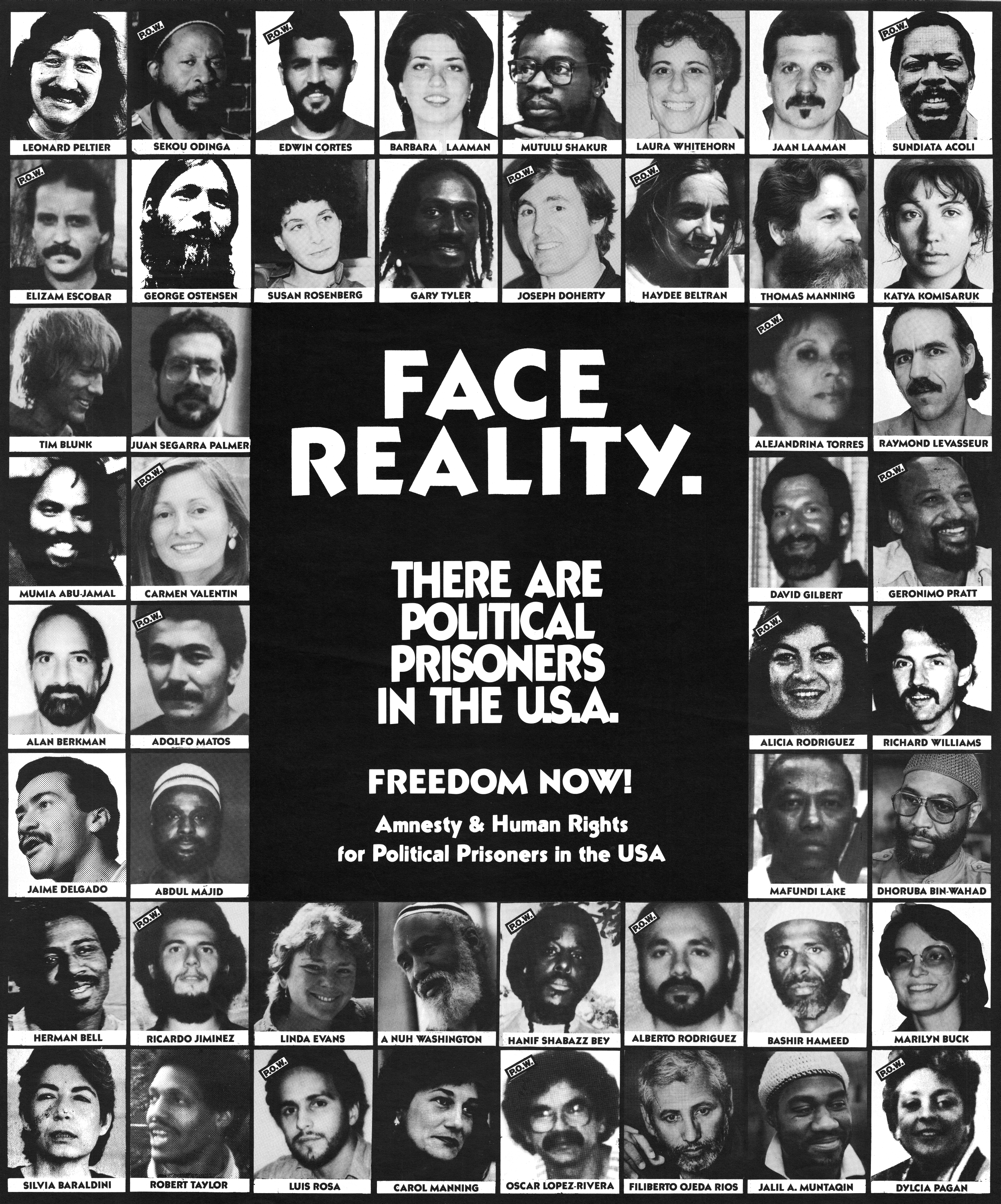 Face Reality Political Prisoners